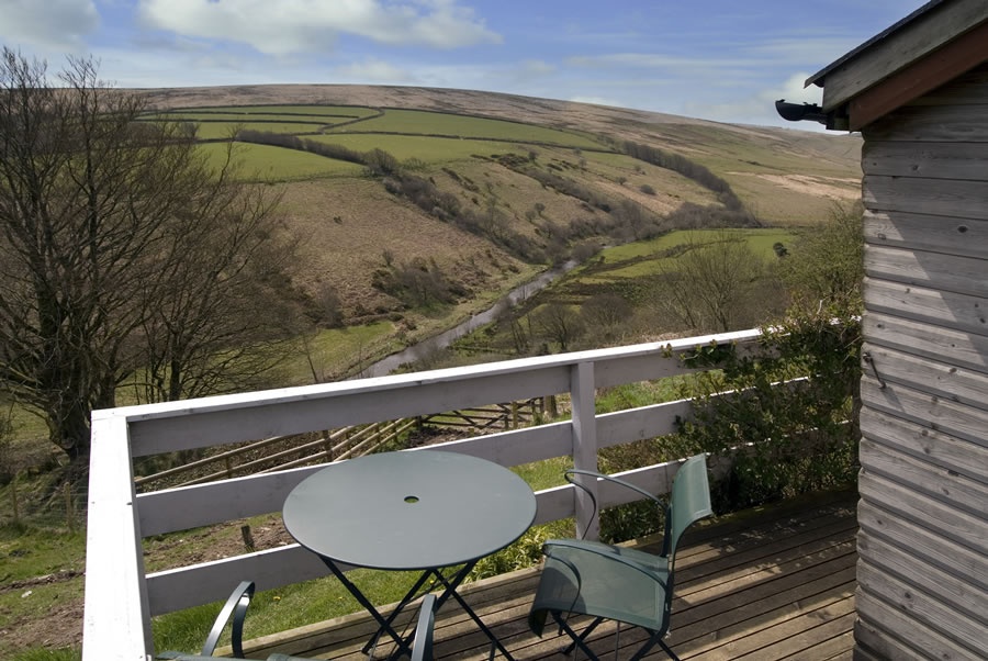 View from exmoor cottage balcony