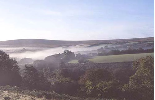 Mist over Exmoor Valleys